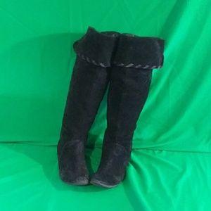 ANA sz 9 genuine leather knee high boots